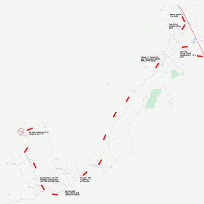 Map to Balay Indang